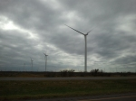 Texas wind farm in December, view 2