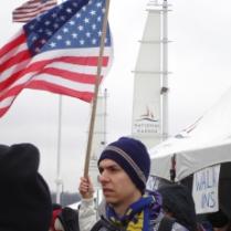 Looking very patriotic