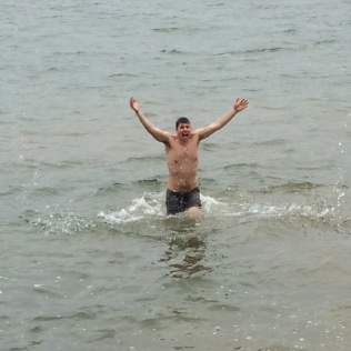 High-tailing it out of the water